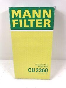 For Porsche 911 99-13 Boxster 97-12 Cayman 06-12 Cabin Air Filter Mann CU3360