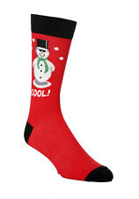 Mens Novelty Christmas Snowman Cool Socks 6-11uk 39-45 eur Red