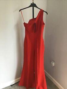 AQ/AQ ladies Red Jumpsuit Uk 8L
