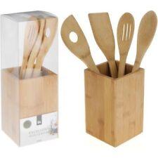 Espátulas, espumaderas y pinzas de cocina sin marca de cocina de bambú