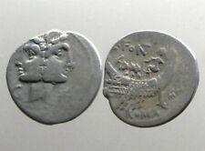 FONTEIA 1 SILVER DENARIUS____Roman Republic____JANIFORM DIOSCURI AND FULL GALLEY