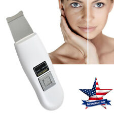 Rechargeable Ultrasonic Skin Scrubber Facial Skin Peeling Pore Cleaner Device US