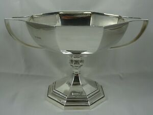 MAGNIFICENT, sterling silver TROPHY BOWL, 1921, 783gm