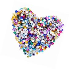 Gems Acrylic Craft Jewels, Flatback Rhinestones, Gemstone Heart Star Square Oval