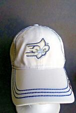 PING Apparel Blue White 100% Cotton Golf SnapBack Ball Cap/Hat Adjustable O/S
