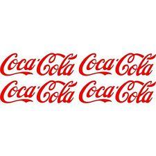 4 Sticker Autocollant Coca Cola  Couleurs au choix