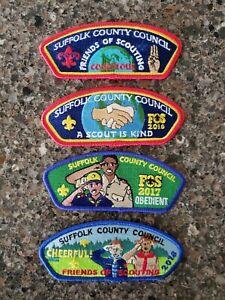 BSA Council Shoulder Strips FOS Set - (2015-2018) Suffolk County Council, NY