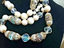 Designer Signed VENDOME, Filigree Cap Crystal Bead, Iconic Clasp Flawed