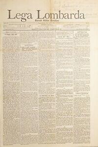 Giornale Politico Quotidiano - Lega Lombarda N. 98 - Africa Adua - 1896