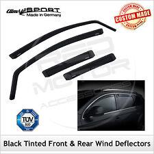 CLIMAIR BLACK TINTED Wind Deflectors FIAT 500L 5-Door 2012 onwards SET (4)