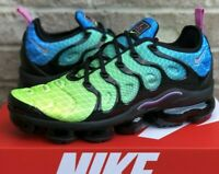 NIKE AIR VAPORMAX PLUS RUNNING SHOES 924453-302 NEW MENS GREEN / BLUE MULTICOLOR