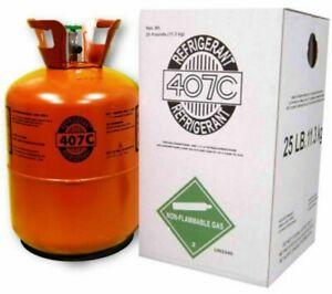 R407C-Refrigerante 25 libras 407C SELLADO DE FÁBRICA con aceite R22 Reemplazo