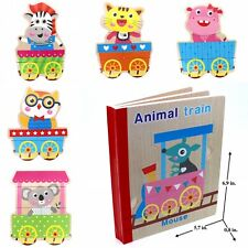 Book Puzzle Toy for Toddler Baby Kids Children . Animal Train book