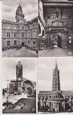 Lot 4 cartes postales anciennes TOULOUSE 5