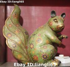 Bronze Metallobjekte Beatrix Potter Timmy Tiptoes Eichhörnchen Miniatur Vienna Cold Bemalt