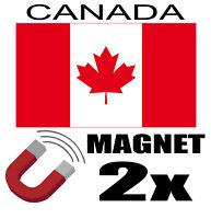 2 x CANADA Drapeau Magnet 6x3 cm Aimant déco  magnétique frigo