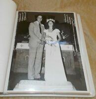"1970's Wedding Album Black & White Photos 8"" x 10"" Port Huron Mich Groom David"
