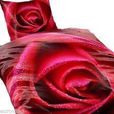 LOVE SUMMER Romantik ROTE ROSEN Mikrofaser BETTWÄSCHE 135x200cm