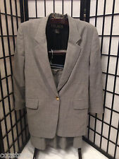 Escada Margaretha Ley 2 Piece Wool Blend Lined Skirt Suit Germany 42 US 14 L XL