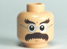 LEGO - Minifig, Head Glasses w/ Bushy Moustache & Eyebrows (Flitwick)
