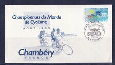 j/  enveloppe championnats du monde de cyclisme  Chambéry  1989