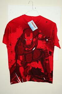 Marvel Comics Iron Man Tony Stark Industries Red T-Shirt New Size LG Mad Engine