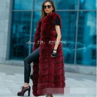 Schlank Lange Damen Weste Pelzweste Vest Winter Sexy Fur-Vest NEUE Womens