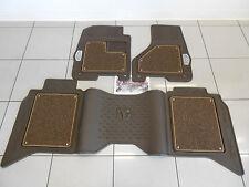 Factory OEM Genuine MOPAR Laramie Longhorn Front Rear Luxury Floor Mat Set Brown