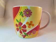 2007 Starbucks 15 Fl Oz Tropical Floral Pattern Coffee Mug Cup