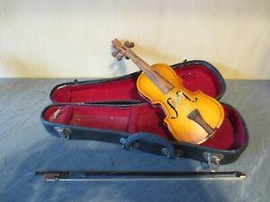 +++Kleine Geige mit Geigenkasten Mini Violine Deko+++