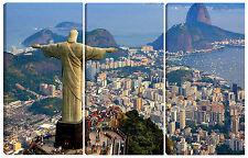 Quadro moderno RIO DE JANEIRO 90X60 brasile cristo redentore copacabana città