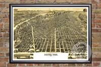 Vintage Denver, CO Map 1889 - Historic Colorado Art - Old Victorian Industrial