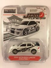 Jada JDM Tuners '02 2002 Mitsubishi Lancer Evolution 7 White Die-cast Metal 1/64