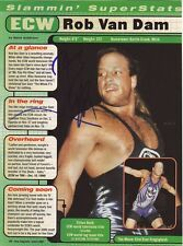 WWE WWF ROB VAN DAM RVD AUTOGRAPHED HAND SIGNED 8X10 PHOTO WRESTLING PICTURE