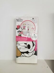 """4pc Wall Decals Minnie Mouse Removable & Replaceable Glitter 17.375"""" x 9"""""""