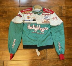 Race Used Mike Wallace #90 Heilig Meyers Racing Driver Worn Fire Jacket NASCAR