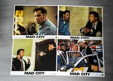 SET OF 8 CINEMA MOVIE LOBBY CARDS - MAD CITY - JOHN TRAVOLTA