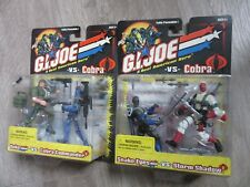 GI JOE vs COBRA 2 PACK LOT DUKE vs COBRA COMMANDER  SNAKE EYES vs STORM SHADOW