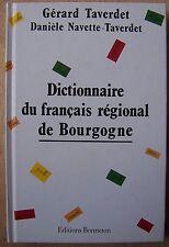 dictionnaire du français régional de Bourgogne - Taverdet - Bonneton