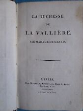 Madame de GENLIS : LA DUCHESSE DE LA VALLIERE, 1804.