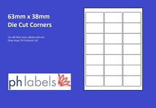 A4 White Multi-Purpose 21 to view 63mm x 38mm Self adhesive labels (500 Sheets)