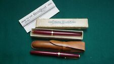 2 VINTAGE CONWAY STEWART FOUNTAIN PENS 1 BOXED 2ND IN LEATHER CASE UNTESTED
