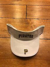 PITTSBURGH PIRATES WHITE VINTAGE BASEBALL SUN VISOR CAP HAT NEW
