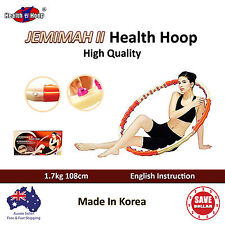 JEMIMAH II 2 HEALTH Weighted Hula Hoola Hoop Exercise Kids Diet Magnetic Massage