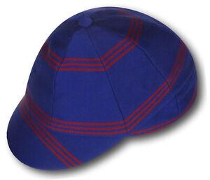Royal Blue & Red Venetian Stripe Wool Worsted School Uniform / Rowing Cap