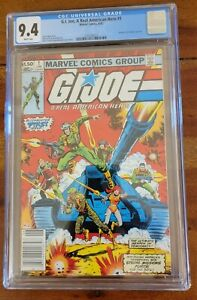 G.I. JOE A REAL AMERICAN HERO #1 CGC 9.4 NM Newsstand White Pages