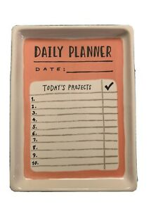"""Orginal MAGENTA Tray """" Daily Planner """" Today's Projects Pink Black"""
