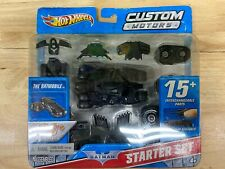 2009 Hot Wheels Custom Motors Batman Batmobile Tumbler Starter Set NEW