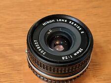 Nikon 28mm f/2.8 Series E Manual Focus Lens