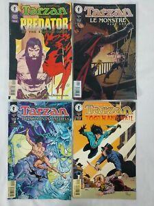 Lot Of 4 - TARZAN - Dark Horse Comics - vs Predator, Tooth & Nail, Prometheus